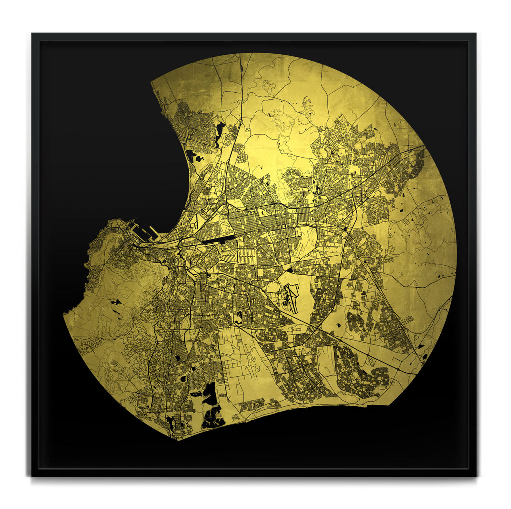 Mappa Mundi Cape Town (Downtown) (24 Karat Gold)