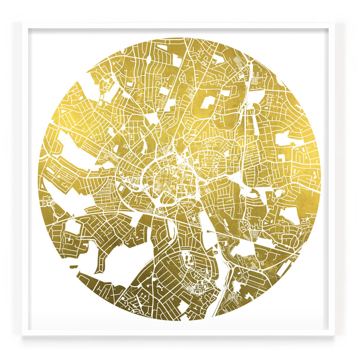 Mappa Mundi Coventry (24 Karat Gold)