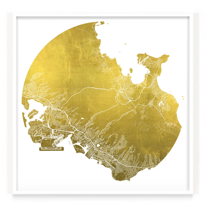 Mappa Mundi Honolulu (24 Karat Gold)