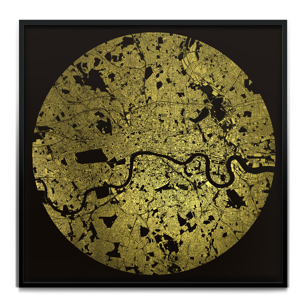 Mappa Mundi London (24 Karat Gold)