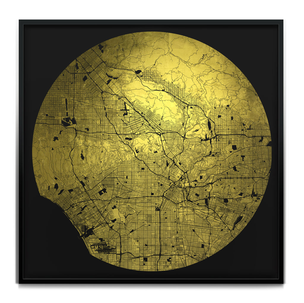 Mappa Mundi Los Angeles Downtown (24 Karat Gold)