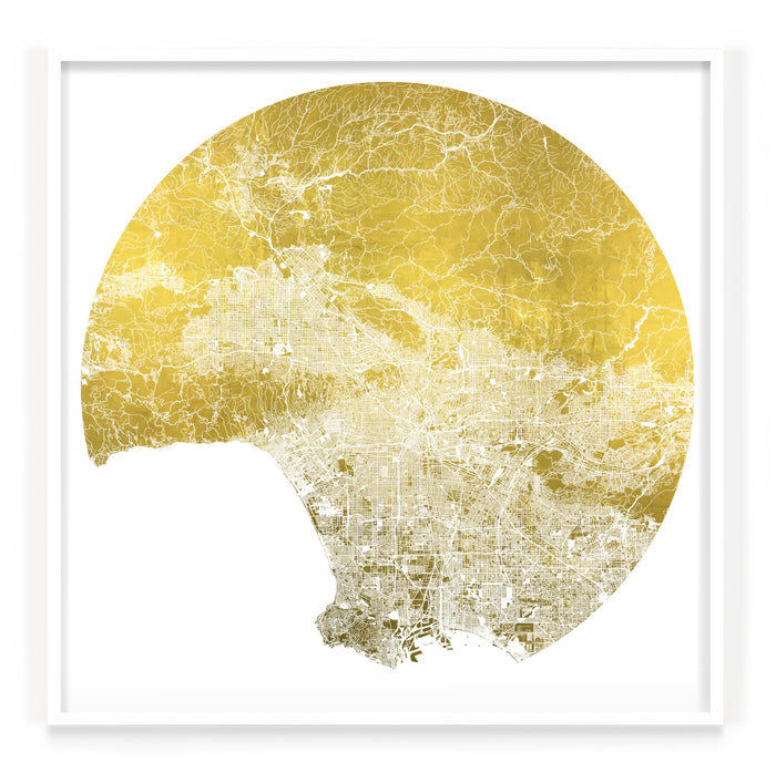 Mappa Mundi Los Angeles (24 Karat Gold)
