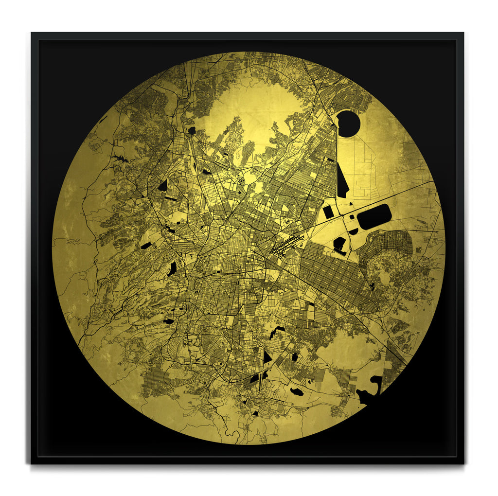 Mappa Mundi Mexico City (24 Karat Gold)