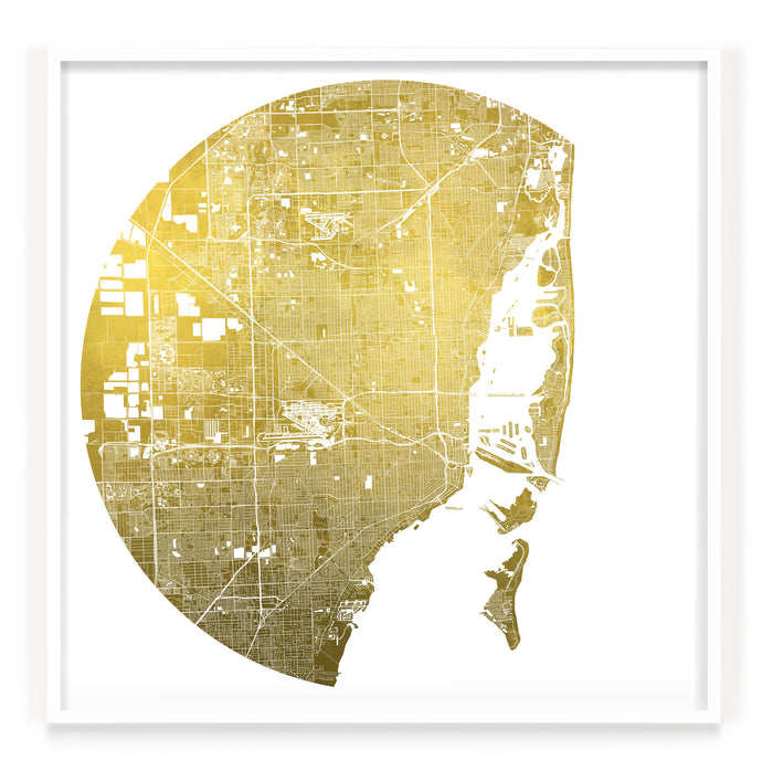 Mappa Mundi Miami (Greater) (24 Karat Gold)