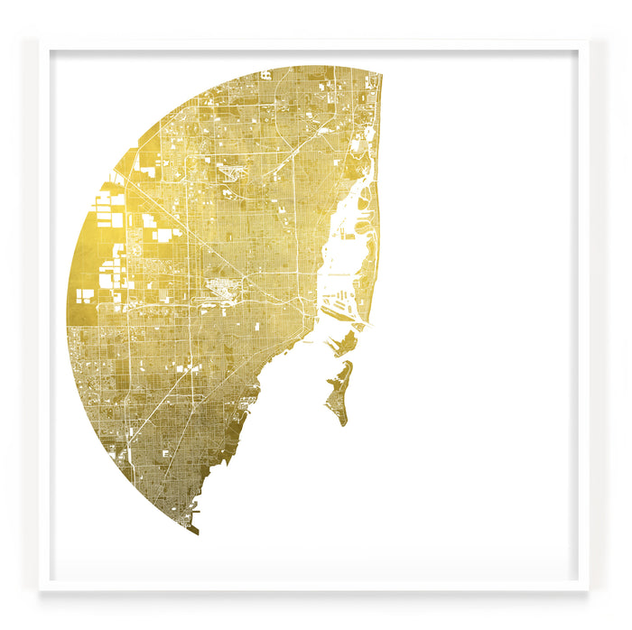 Mappa Mundi Miami (Downtown) (24 Karat Gold)