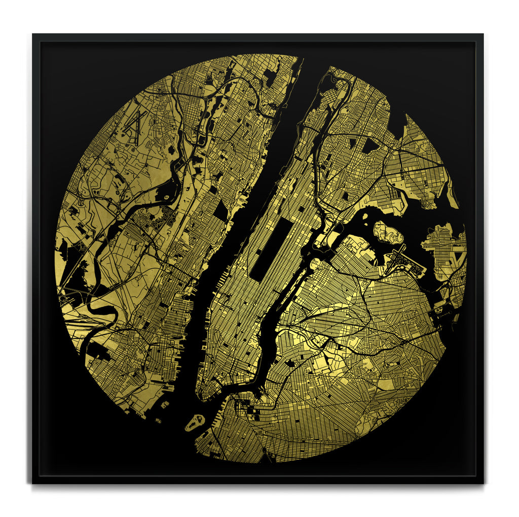 Mappa Mundi New York (Downtown) (24 Karat Gold)
