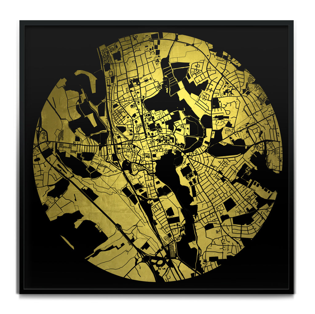 Mappa Mundi Oxford (24 Karat Gold)