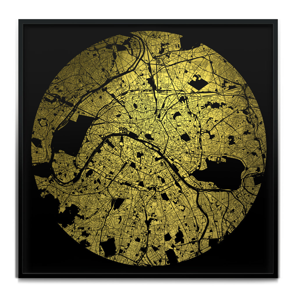 Mappa Mundi Paris (Downtown) (24 Karat Gold)