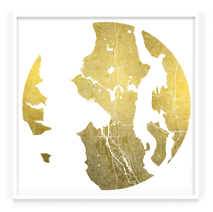 Mappa Mundi Seattle (24 Karat Gold)