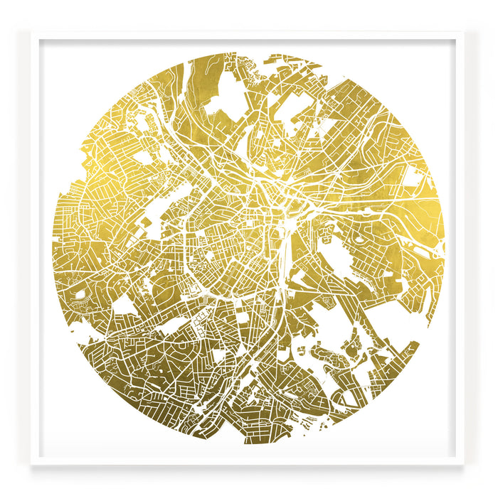 Mappa Mundi Sheffield (24 Karat Gold)