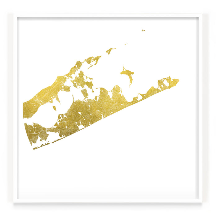 Mappa Mundi The Hamptons (24 Karat Gold)