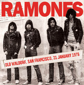 The Ramones ♦ Old Waldorf San Francisco 31 January 1978 (import Special)