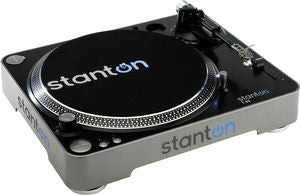 Stanton T.52 Straight Arm Turntable (Belt Drive, Black, Silver, RCA Outputs)
