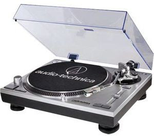 Audio Technica LP-120-USB Turntable (Built-In Preamp, Black, Direct Drive, Silver, RCA Outputs)