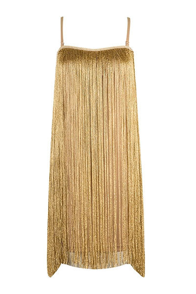 Gold Fringe Dress
