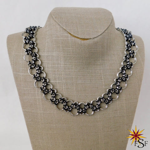 Black Lace Hodo Chainmaille Necklace