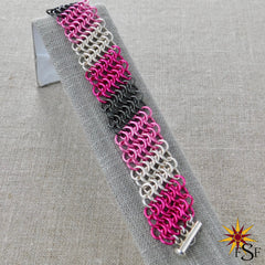 Camo Pink Chainmaille Bracelet