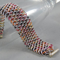 Fire Dragon Chainmail Cuff Bracelet