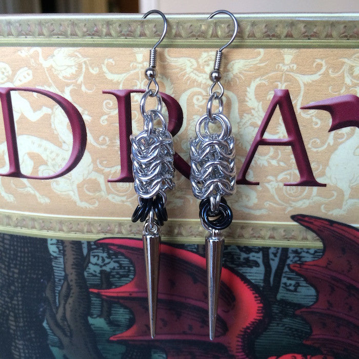 Spiked Roundmaille Earrings