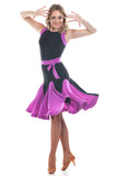 Sweet Purple Latin Dance Dress - DanceLuxe Boutique