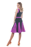 Sweet Purple Latin Dance Dress