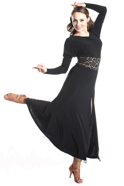"""La Dolce Vita"" Ballroom Dance Dress - DanceLuxe Boutique"