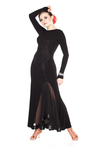 """Black Pearl"" Ballroom Dance Dress"
