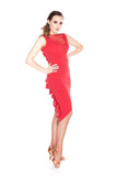 """Red Amor"" Latin Dance Dress"