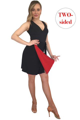 Black&Red Doublesided Dress - DanceLuxe Boutique