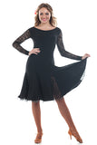 """Fabiana Black"" Latin Dance Dress"