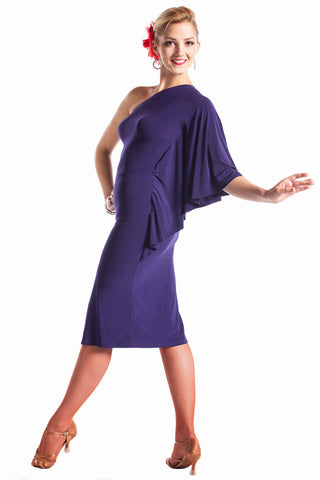 """Fabulous in Purple"" Latin Dance Dress - DanceLuxe Boutique"