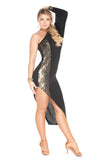 """Golden Diamonds"" Latin Ballroom Dance Dress"