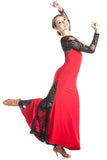 """Tango Rouge"" Ballroom Dance Dress"