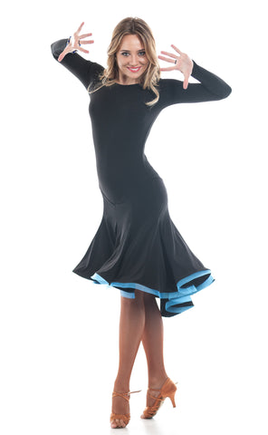 """Novella Blue"" Latin Dance Dress"