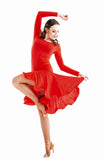 """Joanna Red"" Latin Dance Dress - DanceLuxe Boutique"