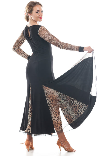 """Charmed & Leopard"" Ballroom Dance Dress - DanceLuxe Boutique"