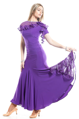 """Mezza Notte"" Ballroom Dance Skirt - DanceLuxe Boutique"