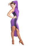 """Purple Diamonds"" Latin Ballroom Dance Dress - DanceLuxe Boutique"