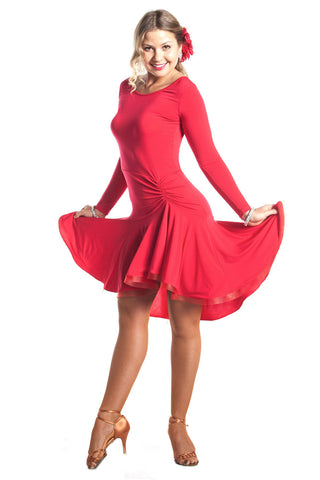 """Joanna Red"" Latin Dance Dress"