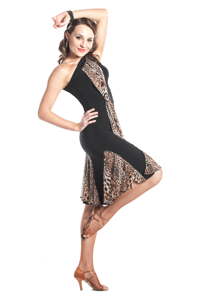 """Safari Chic"" Latin Dance Dress - DanceLuxe Boutique"