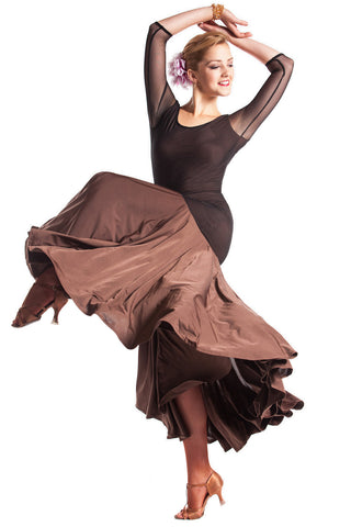 """La Perla"" Ballroom Dance Dress - DanceLuxe Boutique"
