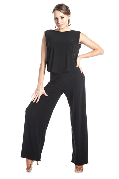 """POSH"" Dance Jumpsuit - DanceLuxe Boutique"