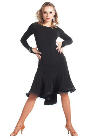 """Novella"" Latin Ballroom Dance Dress - DanceLuxe Boutique"