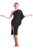 """Fabulous in Black"" Latin Dance Dress"