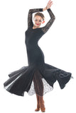 """Grace Black Lace"" Ballroom Dress - DanceLuxe Boutique"