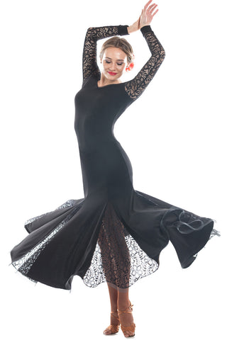 """Grace Black Lace"" Ballroom Dress"