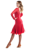 Fabiana Red Latin Dress - DanceLuxe Boutique