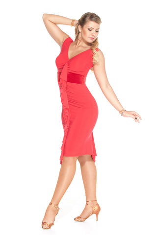 """Victoria Red"" Latin Dance Dress"