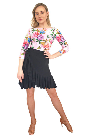 """Florina"" Latin Wrap Skirt - DanceLuxe Boutique"