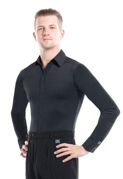 Men's Black Dance Shirt - DanceLuxe Boutique